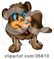 Clipart Illustration Of An Excited Blue Eyed Bear Looking Right by dero