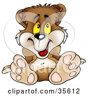 Clipart Illustration Of An Adorable Relaxed Bear Leaning Back On His Hands by dero