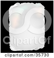 Clipart Illustration Of An Aged Blank Piece Of Paper With Torn And Curling Edges by dero