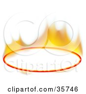 Flaming Blank Oval Text Box Or Sign