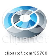 Clipart Illustration Of A Pre Made Logo Of A Blue And Orange Target Or Circles by beboy