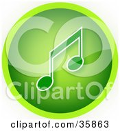 Gradient Green Music Icon Button