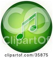 Green Music Icon Button