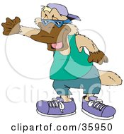 Clipart Illustration Of A Cool Platypus In Clothes Shoes A Hat And Shades by Dennis Holmes Designs