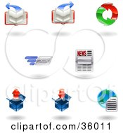 Clipart Illustration Of A Set Of Nine Shiny Browser Icons