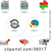 Clipart Illustration Of A Set Of Nine Shiny Internet Browser Icons