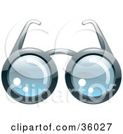 Clipart Illustration Of A Pair Of Eye Glasses With Round Lenses