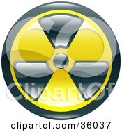 Clipart Illustration Of A Black And White Radiation Symbol