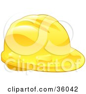 Clipart Illustration Of A Shiny Yellow Construction Hardhat