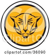 Round Cougar Face Icon