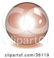 Clipart Illustration Of A Pink Reflective Crystal Ball Marble Or Orb
