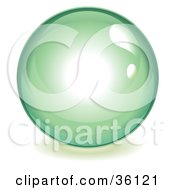 Clipart Illustration Of A Green Reflective Crystal Ball Marble Or Orb