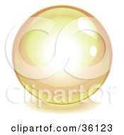 Clipart Illustration Of An Orange Reflective Crystal Ball Marble Or Orb