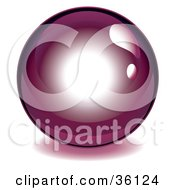 Dark Purple Reflective Crystal Ball Marble Or Orb