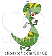 Fussy Green And Yellow Tyrannosaurus Rex