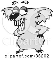 Clipart Illustration Of A Koala Grinning And Standing With His Hands On His Hips