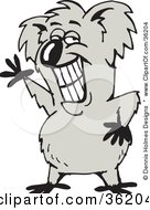 Clipart Illustration Of A Grinning And Waving Koala