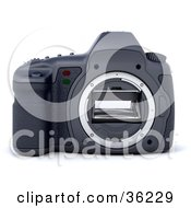 Clipart Illustration Of A Camera Body Without A Lens
