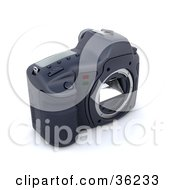 Clipart Illustration Of A Camera Body With No Lens The Mirrors Visible by KJ Pargeter
