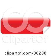 Clipart Illustration Of A Long Red Blank Peeling Sticker Or Label by KJ Pargeter