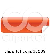 Clipart Illustration Of A Long Orange Red Blank Peeling Sticker Or Label