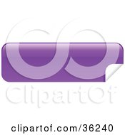 Clipart Illustration Of A Long Purple Blank Peeling Sticker Or Label by KJ Pargeter