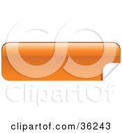 Clipart Illustration Of A Long Orange Blank Peeling Sticker Or Label