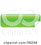 Clipart Illustration Of A Long Green Blank Peeling Sticker Or Label by KJ Pargeter