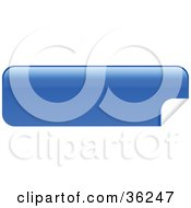 Clipart Illustration Of A Long Blue Blank Peeling Sticker Or Label