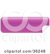 Clipart Illustration Of A Long Pink Blank Peeling Sticker Or Label by KJ Pargeter