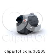 Clipart Illustration Of A Battery Attached To A Handy Cam by KJ Pargeter