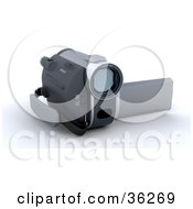 Clipart Illustration Of A Handy Cam Facing To The Right