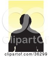 Clipart Illustration Of An Avatar Of A Silhouetted Man