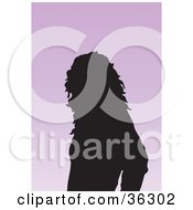 Clipart Illustration Of An Avatar Of A Silhouetted Lady With Wavy Hair