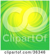 Swirling Green And Yellow Background