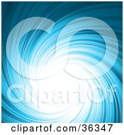 Swirling Blue Background With Bright Light In The Center