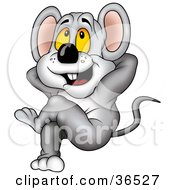 Clipart Illustration Of A Lazy Mouse Kicking Back And Relaxing by dero