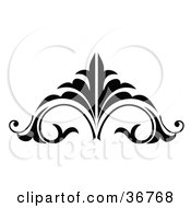 Clipart Illustration Of A Black And White Embellishment Design