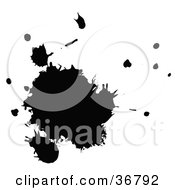 Clipart Illustration Of A Messy Black Ink Splatter by OnFocusMedia
