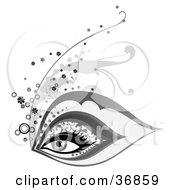 Clipart Illustration Of A Beautiful Womans Eye With Elegant Makeup by OnFocusMedia
