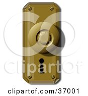 Clipart Illustration Of A Door Knob And Skeleton Keyhole