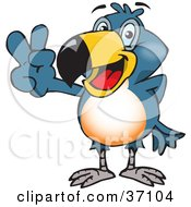 Clipart Illustration Of A Peaceful Toucan Smiling And Gesturing The Peace Sign