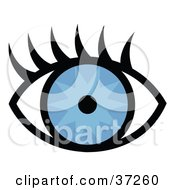 Clipart Illustration Of A Pretty Blue Eye With Long Lashes by Andy Nortnik