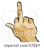 Clipart Illustration Of A Hand Flipping The Bird by Andy Nortnik