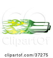Clipart Illustration Of Green And Yellow Flames by Andy Nortnik