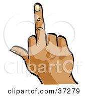 Clipart Illustration Of A Hand Flipping Someone Off by Andy Nortnik