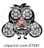 Clipart Illustration Of A Friendly Big Eyed Fly With His Arms Crossed by Andy Nortnik
