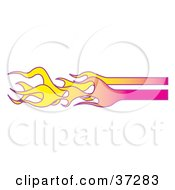 Clipart Illustration Of Yellow And Pink Flames by Andy Nortnik