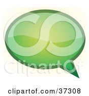Shiny Green Word, Text, Speech Or Though Balloon Or Bubble Outlined In ...