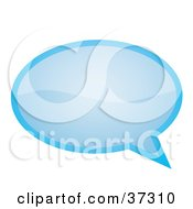 Clipart Illustration Of A Shiny Light Blue Word Text Speech Or Though Balloon Or Bubble